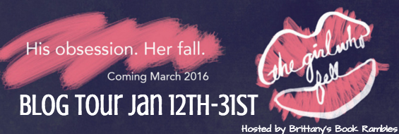 blog tour banner - the girl who fell